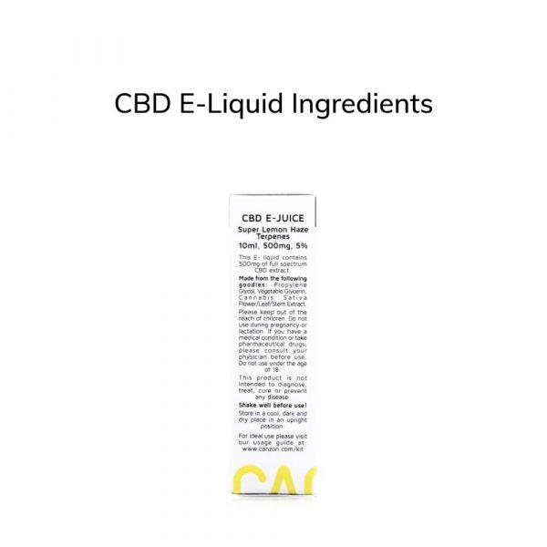 CBD E-Liquid ingredients