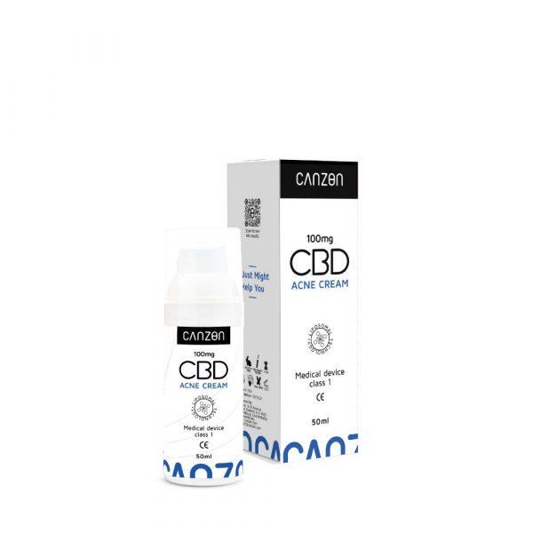 Crème au CBD contre l'acné
