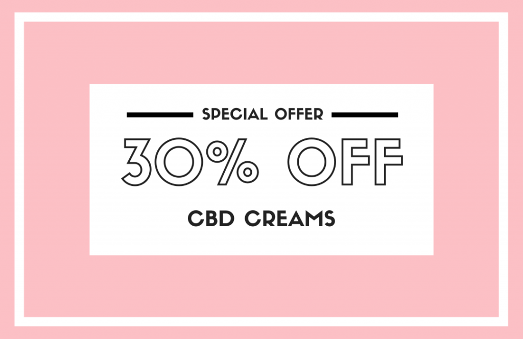 30% off CBD Creams