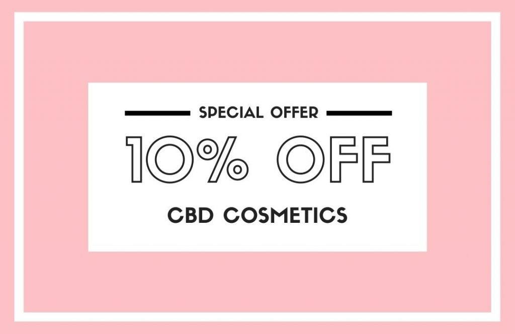 10% off CBD Cosmetics