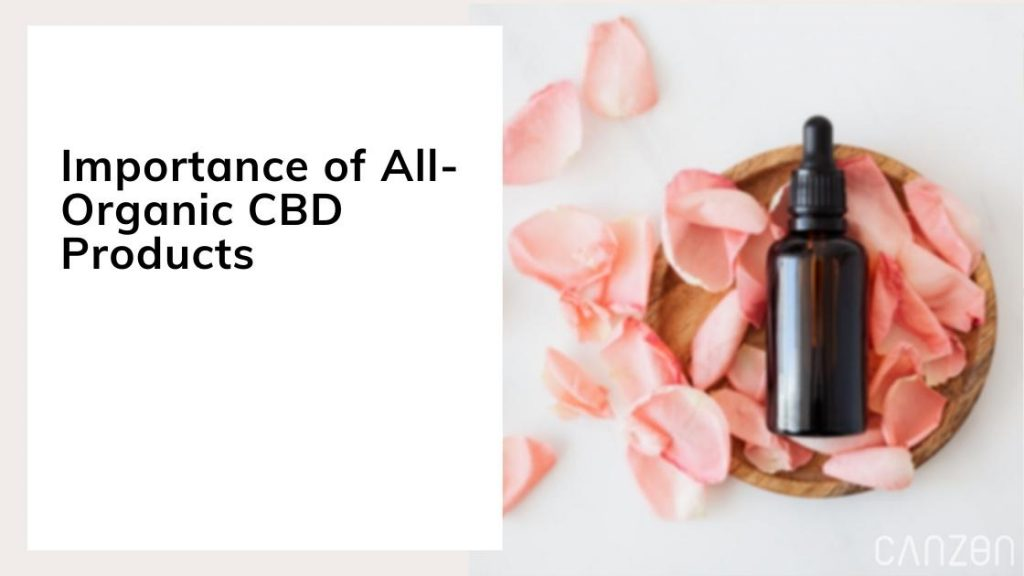 Importance of All-Organic CBD Products